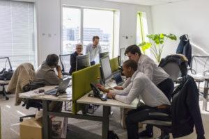 Nouveaux espaces de travail des collaborateurs de BNP Paribas Leasing Solutions