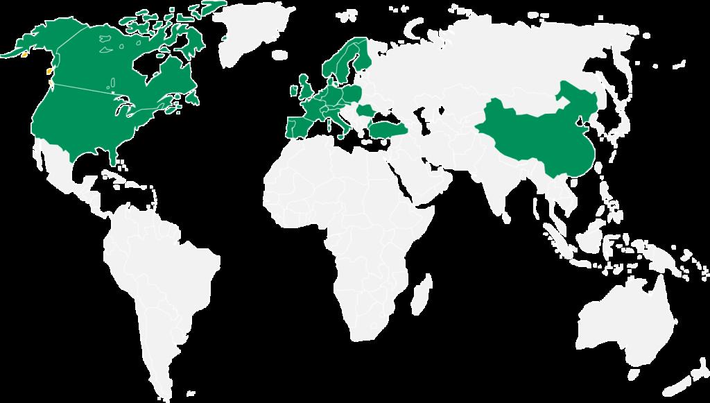 Wolrd map BNPPLS